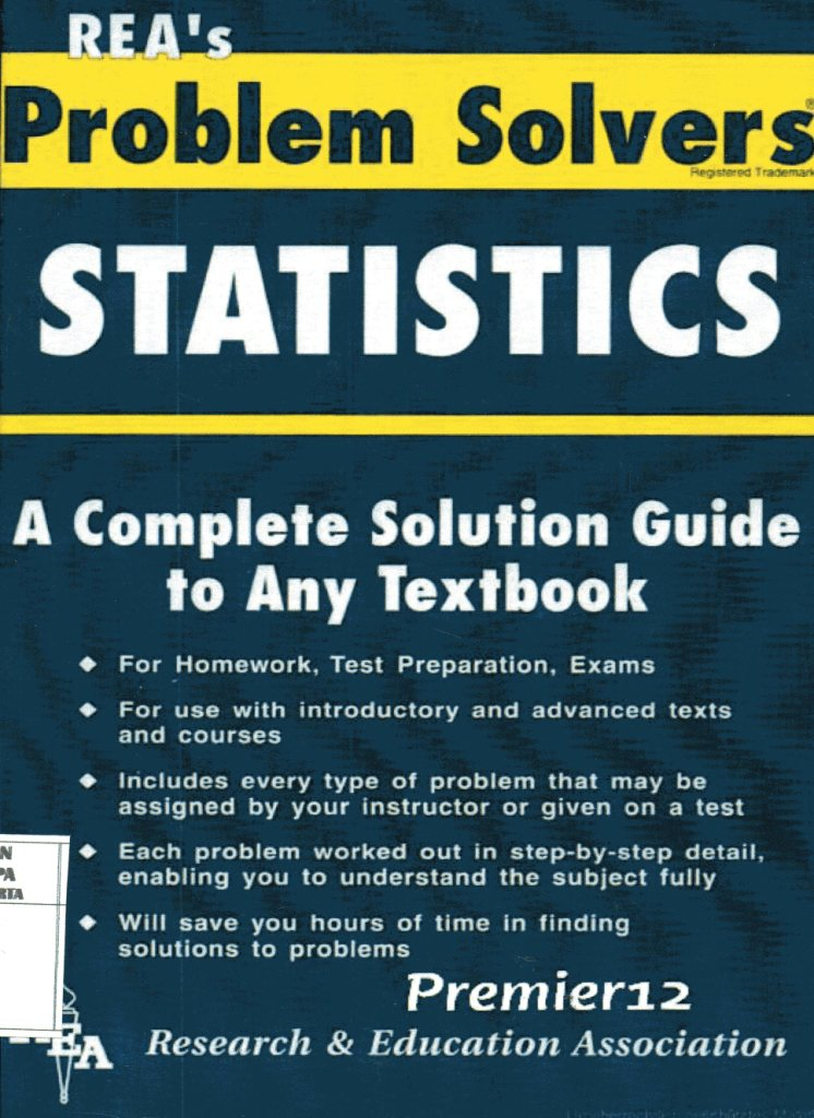 Rea's Problem Solvers Statistics: A Complete Solution Guide to Any Textbook